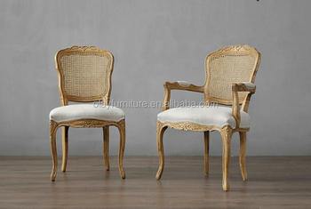 cane back dining room chairs teak outdoor furniture lounge french antique oak wood carved chair vintage armrest dc