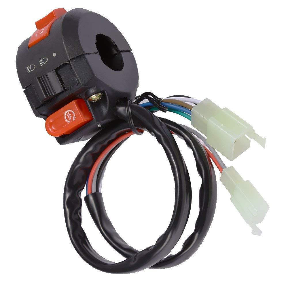 hight resolution of get quotations kill start switch left handlebar fits 2016 taotao 125cc 110cc chinese atv 9 wires 2 plug