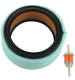 harbot gy20576 air filter with pre filter fuel filter for john deere g110 g100 l130 [ 1000 x 1000 Pixel ]