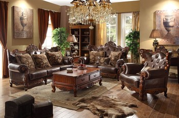 oak furniture set living room two color painting luxury factory leather sofa buy real