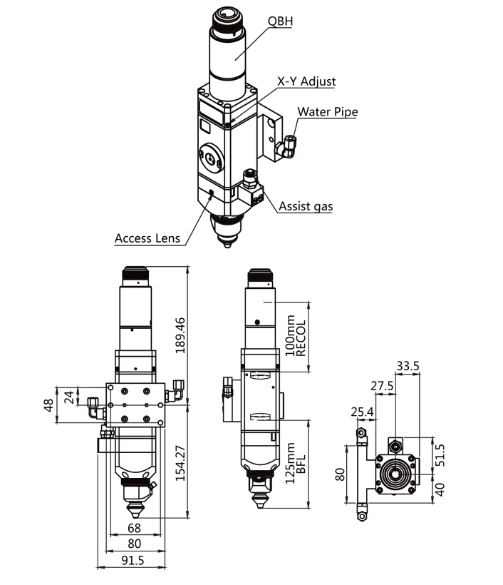 Raytools Manual Focus Cutting Head For Fiber Laser Cutting