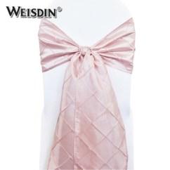 Wedding Chair Sash Accessories High Lift Christmas Home Textile Pintuck Band Blush Sashes For Cover