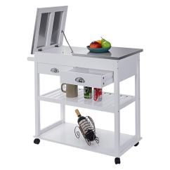 Cheap Kitchen Storage Best Appliances Reviews Drawers Find Deals On Cypressshop White Rolling Trolley Carts Stainless Steel Flip Top Island With