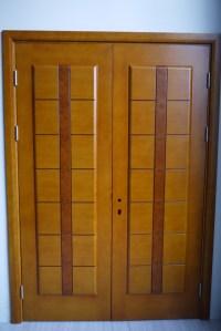 Prehung Exterior Double Door 96 Wood Mahogany 2 Panel ...