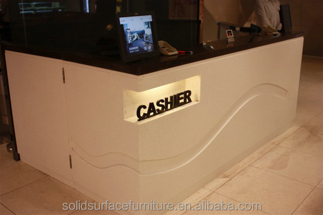 Widely Applied Modern Shop Retail Store Cash Counter