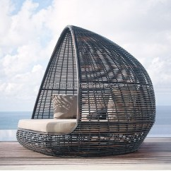 Black Rattan Chair Dinette Table And Chairs Home Patio Beach Thick Material Pyamidal Cocoon Shaped Outdoor Wicker Daybed - Buy ...