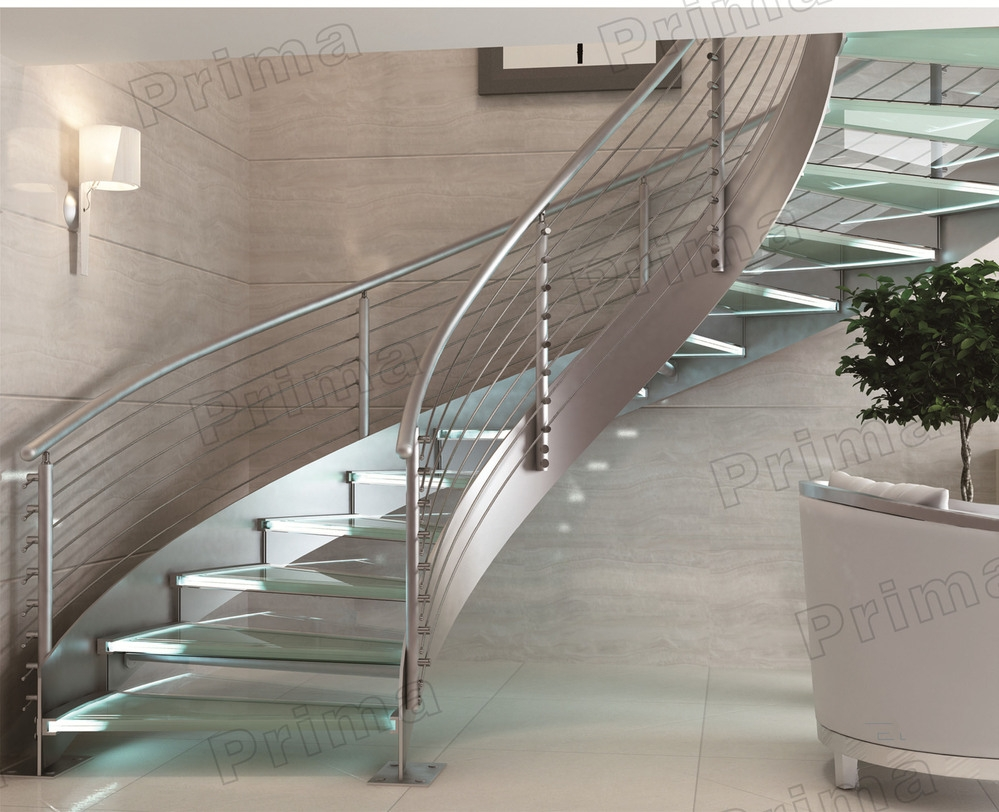 Helical Stairs Spiral Staircase Prices Curved Glass Stair   Steel Spiral Staircase Price