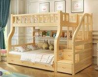 New Design Kids Bunk Bed Solid Wood Kids Double Deck Bed ...