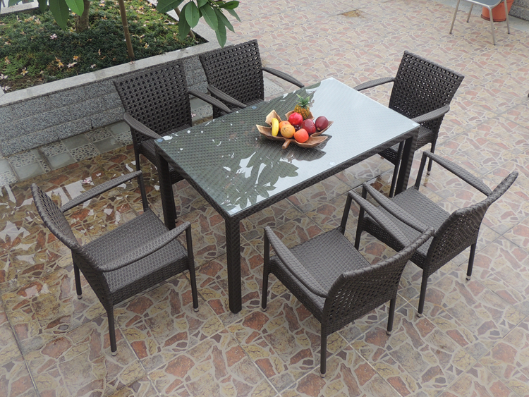 Modern Discount Wicker Outdoor Patio Furniture Dining Sets