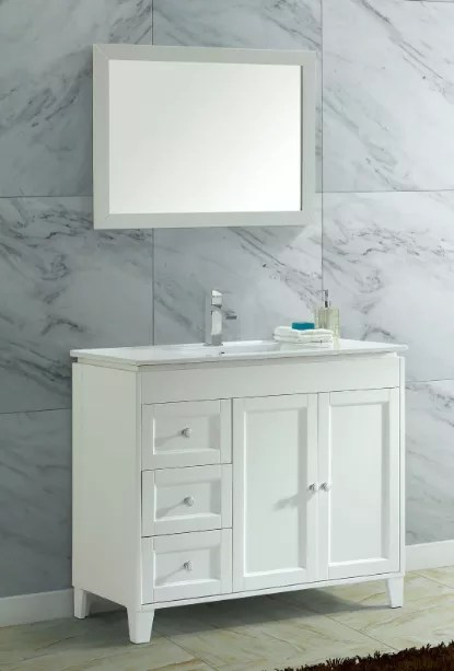 40 inch white ceramic single sink solid wood lowes vanity bathroom vanity buy solid wood lowes vanity bathroom vanity combo single sink lowes vanity