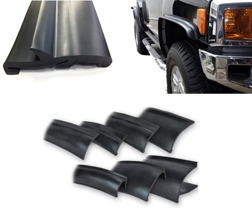 small resolution of truck flares universal flexible epdm rubber fender flares trim