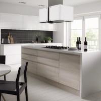 White Wood Grain Laminate Kitchen Cabinets - Buy Laminate ...