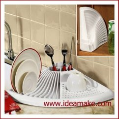 Kitchen Organizer Cabinet Shelving Space Saving Dish Drying Shelf With Drain Board And Cutlery Holder Buy Rack Plate Product On Alibaba