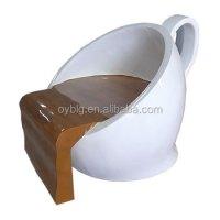 Creative Design FRP Morden Furniture Fiberglass Coffee Cup ...