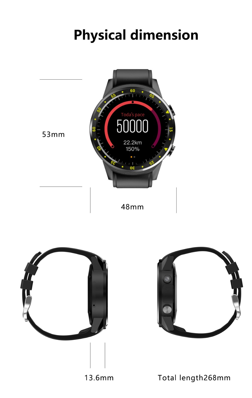 F1 Gps Smart Sport Watch With Camera Altimeter Heart Rate