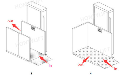 Commercial Disabled Elevator Hydraulic Porch Wheelchair