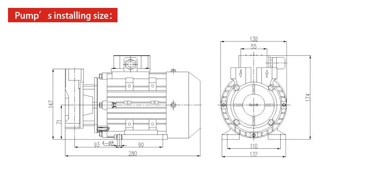Single Stage Hot Water High Pressure Vertical Vortex Pump