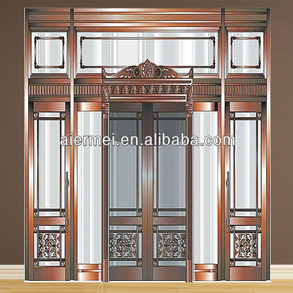 Luxury Hotel Door Design Copper Front Double Door Designs