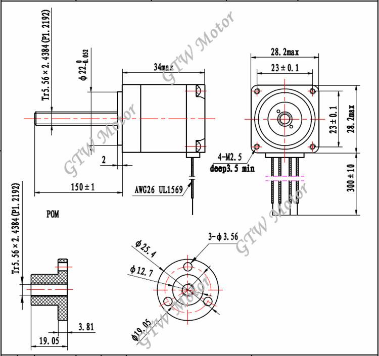 nema11 stepper motor lead screw high quality cheap price