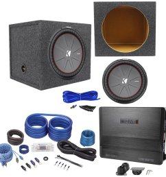 get quotations package kicker 43cwr152 15 dual voice coil 2 ohm car audio subwoofer totaling [ 1500 x 1500 Pixel ]