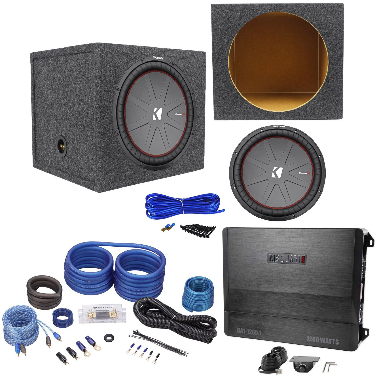 hight resolution of get quotations package kicker 43cwr152 15 dual voice coil 2 ohm car audio subwoofer totaling