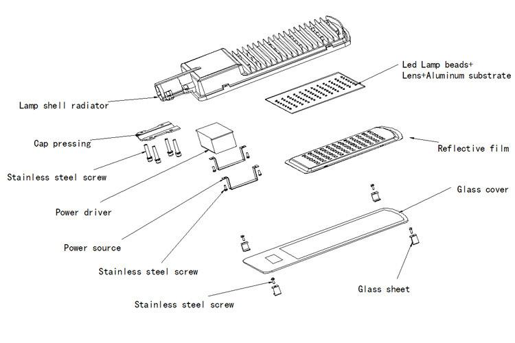 Waterproof 100 Watt Led Street Light Solar Lamp Street Led