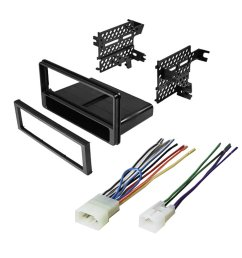 car stereo radio cd player dash install mounting kit installation trim pocket for select scion and subaru vehicles [ 1000 x 1000 Pixel ]