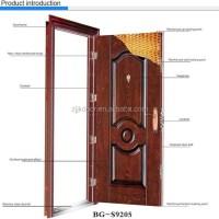 Jk-s9206 Residential Luxury Exterior Security Door Steel ...