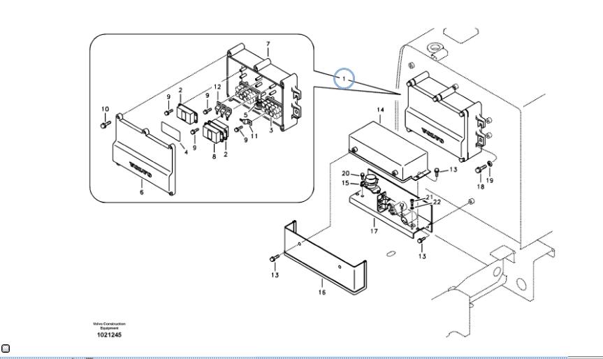 Relay Box 14558807 Voe14558807 Excavator Spare Parts Relay