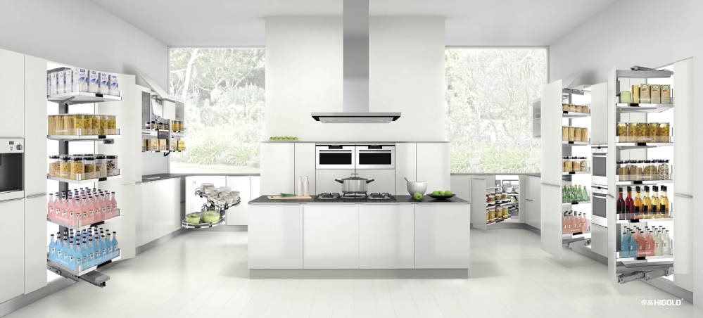 kitchen organizer ceramic sinks 高品质的厨房组织者larder tandem pantry 柜pull 篮子 buy 厨房组织者