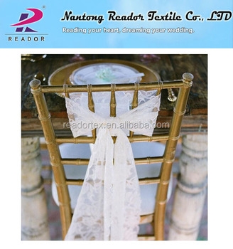 diy organza chair covers west elm chairs tulle roll stretch sash netting fabric wedding decoration cover bow elastic