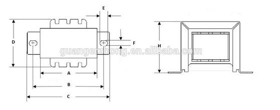 Output Transformer For Tube Amplifier Ei-35 Transformer