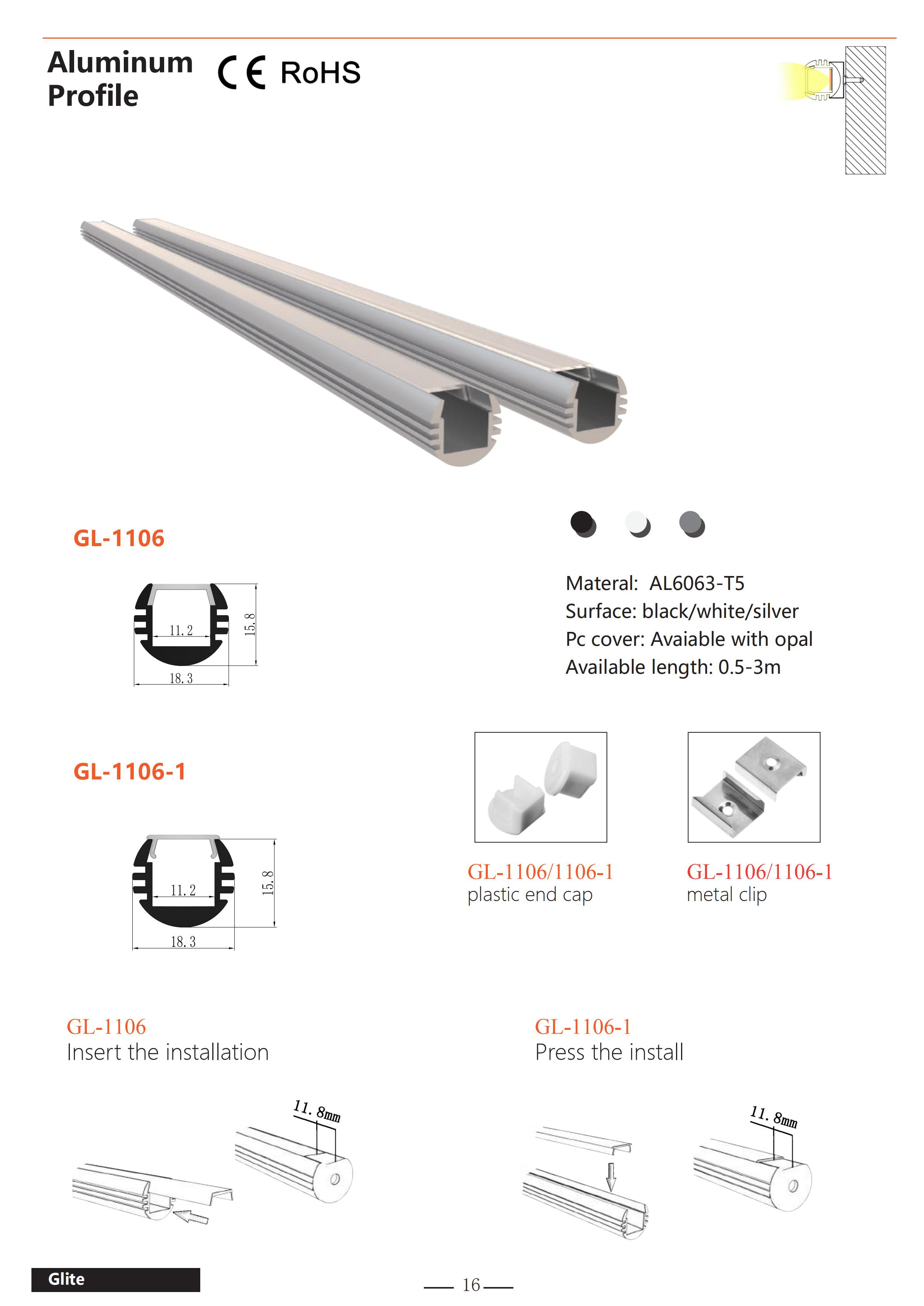 Factory Price Top Led Aluminum Profile Light Fixture Of