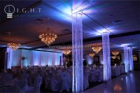 Hanging Crystal Beaded Columns For Weddings Aisle Decor ...