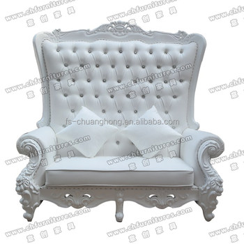 alibaba royal chairs damask dining chair covers white wedding throne for bride and groom sofa sale yc d97