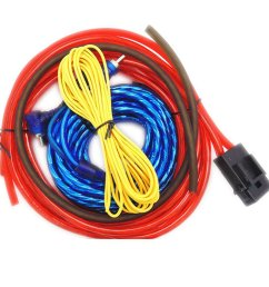eaglerich 60w 4m length professional car audio wire wiring amplifier subwoofer speaker installation wires cables kit [ 1000 x 1000 Pixel ]