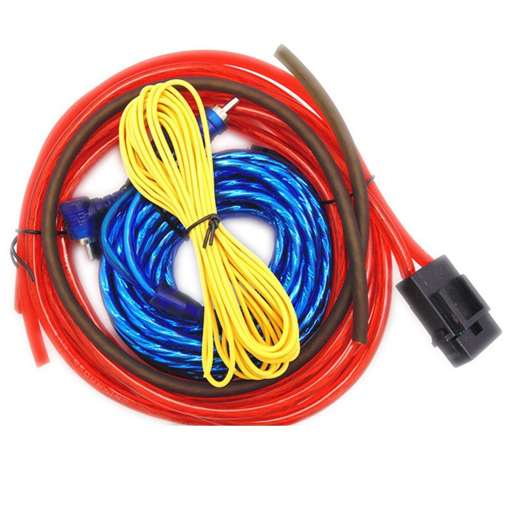 hight resolution of eaglerich 60w 4m length professional car audio wire wiring amplifier subwoofer speaker installation wires cables kit