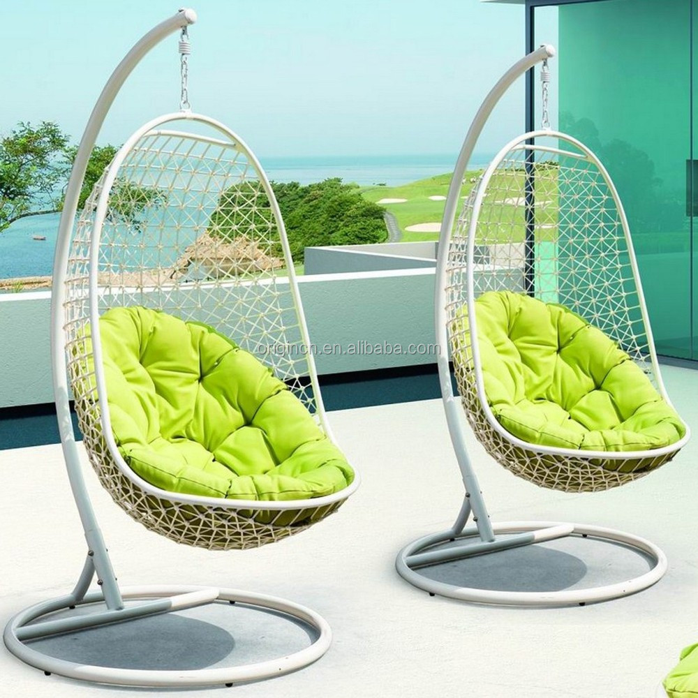 Bird Nest Chair L Shape Rattan Hanging Hammock With Grid Back Green Round Cushion Bird Nest Chair Orw 1007c Buy Bird Nest Chair Hammock L Shape Product On