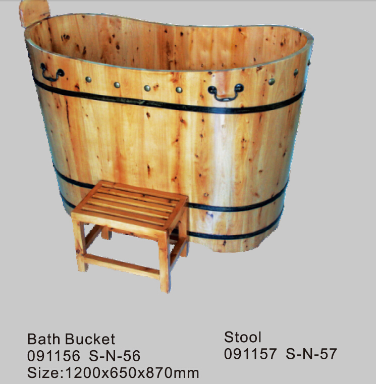 Jazzi Wooden BathtubWooden Bath BucketWooden Hot Spa