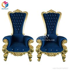 High Backed Throne Chair Best Drafting Hotel Wood Leather Velvet Wedding Gold Back King