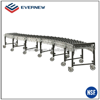 Flexible Expandable Gravity Plastic Skate Wheels Conveyor