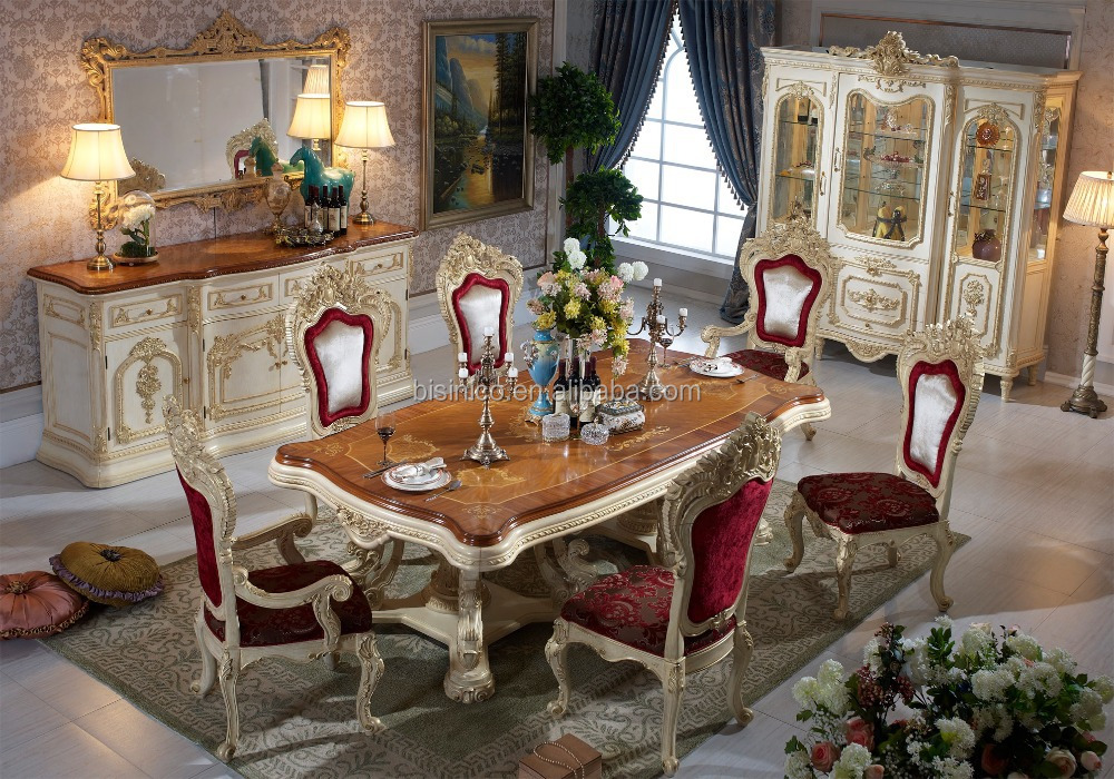 Baroque Antique Style Italian Dining Table 100 Solid