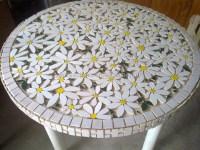 Round Marble Mosaic Flower Pattern Table Top,Mosaic Garden ...