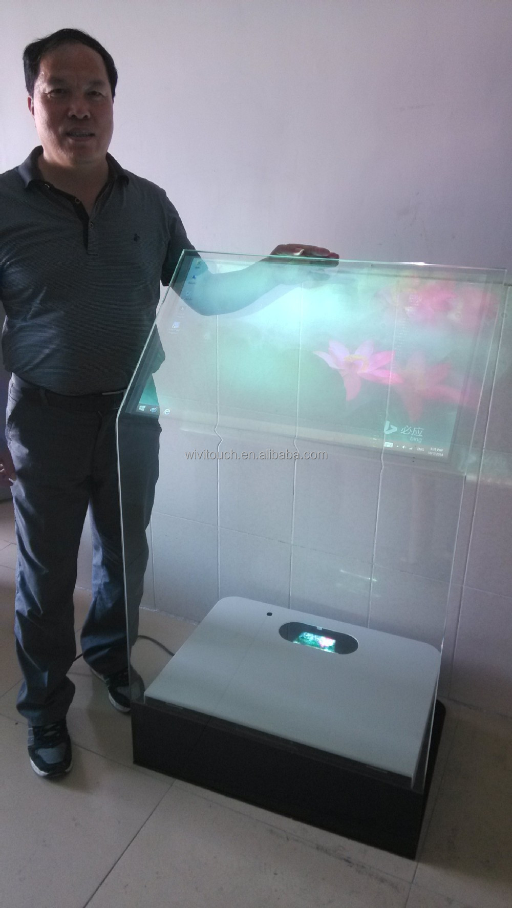 30 Interactive Holographic Transparent Touch Foil Kiosk