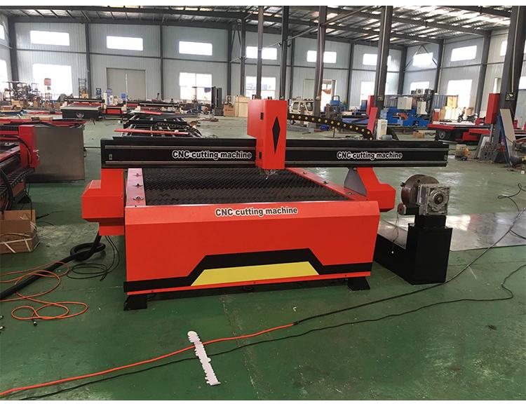 Plasma CNC Cutting Machine 4th Axis CNC Plasma Cutter with Rotary Device 1
