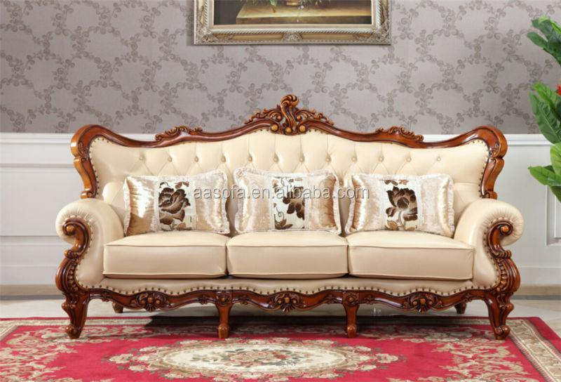 latest sofa set designs 3 seat recliner slipcover classic italian antique living room furniture wooden ...