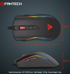fantech x4s wholesale wired usb optical mouse slim universal computer mouse compatible with pc mac desktop [ 1000 x 1000 Pixel ]