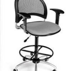 Modern Drafting Chair Dining Seat Material Buy Ofm Putty Moon Mesh Back With Adjustable Arms