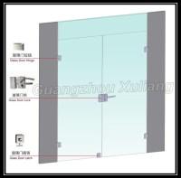 Frameless Commercial Double Glass Doors Double Swing Door ...