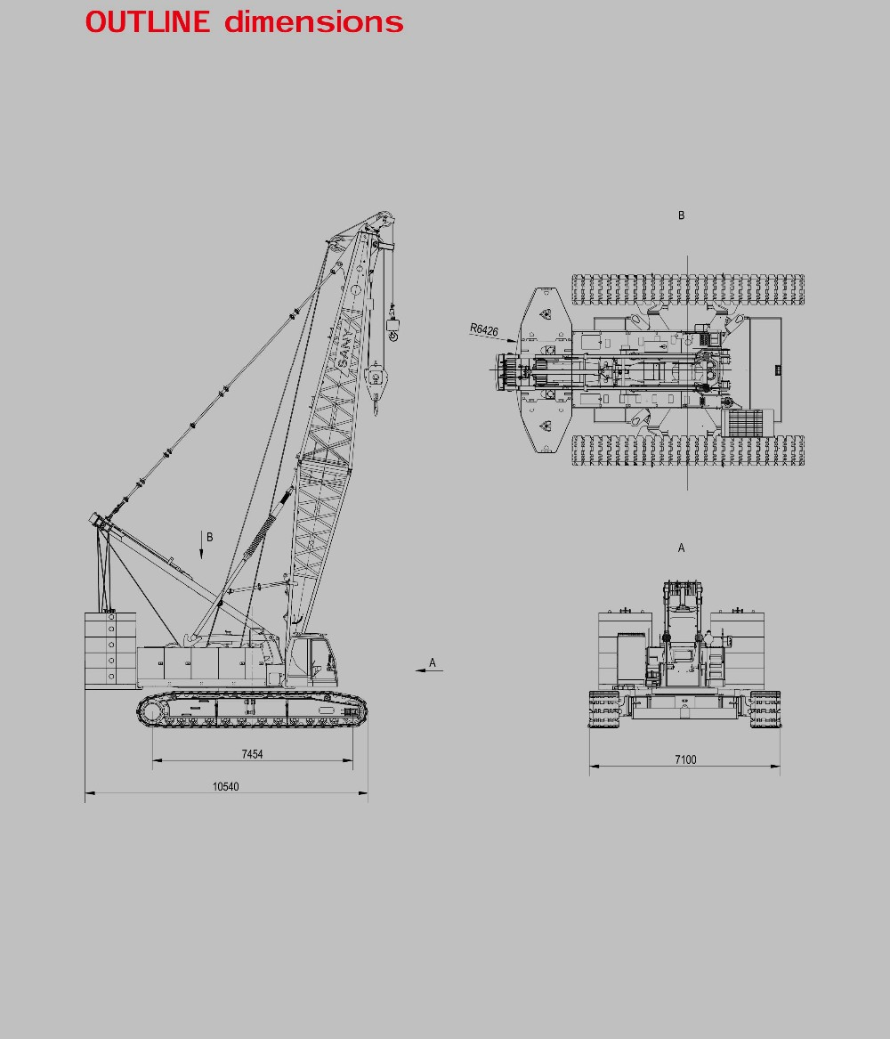Sany Scc1800 180 Ton Hydraulic Hoisting Machinery Crawler